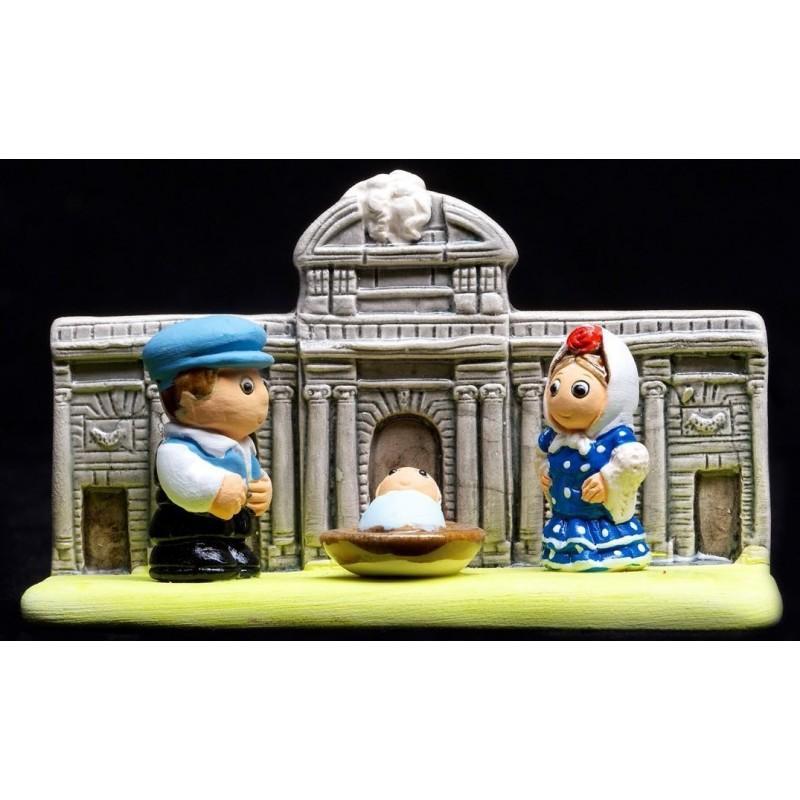 Crèche de Noel miniature Nativity Set Décoration Sapin