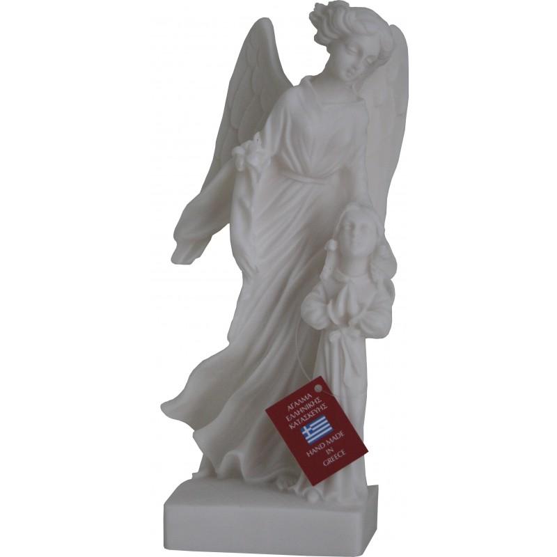 Statue Ange Gardien cadeau communion Hauteur 23 cm
