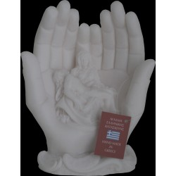 Statue Pieta reproduction Michel Ange an albatre H. 16CM