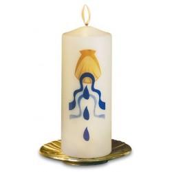 Cierge de baptême sérigraphie deux couleurs bougie chandelle