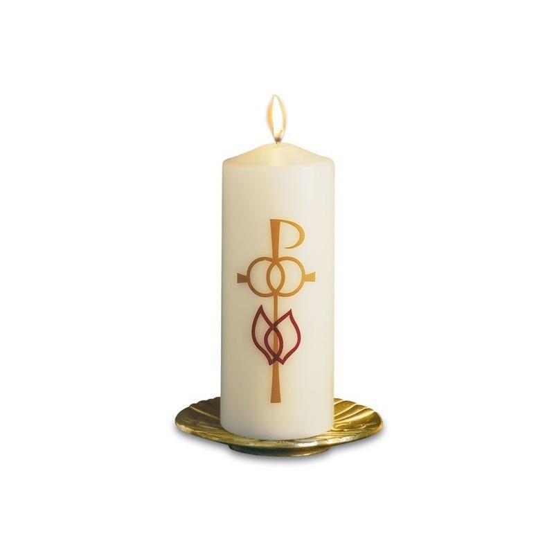 Cierge de Mariage bougie chandelle décoration hauteur 20 cm diamètre 8 cm