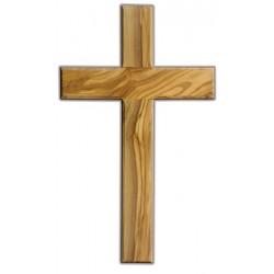 Croix en bois d'olivier, hauteur 25cm, largeur 15cm