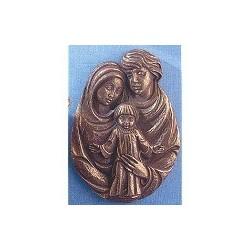 Création en bronze de la Sainte Famille bas-relief H 22 cm