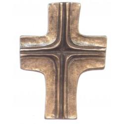 Crucifix Croix en zinc, couleur bronze H 10 CM