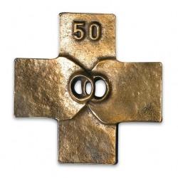 Croix de mariage couleur bronze (noce d'or)