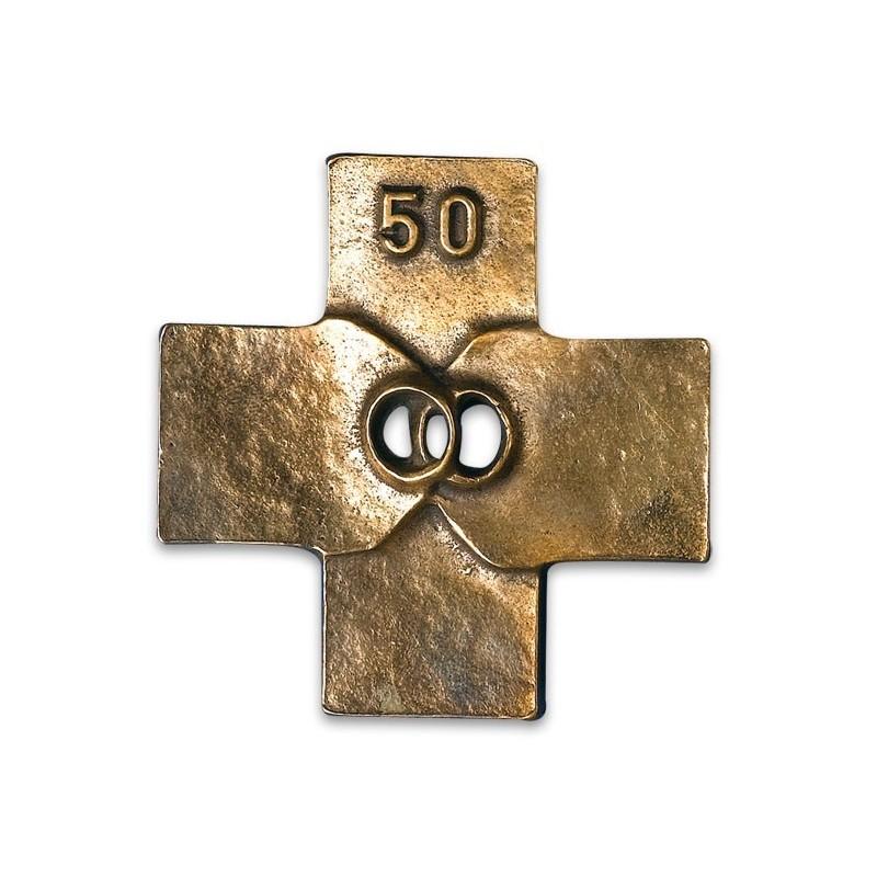 Anniversaire cadeau 50 ans mariage religieux catholique noce or croix - Cadeau noce d or ...