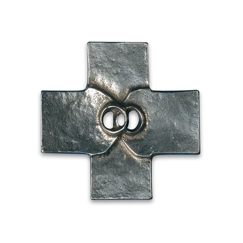Croix de mariage couleur argent