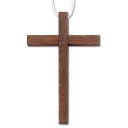 Croix d'aube en bois pour première communion avec cordelette