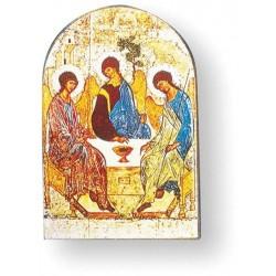 Icône courbée La Trinité de Roubliev reproduction Taille 14x9,5cm
