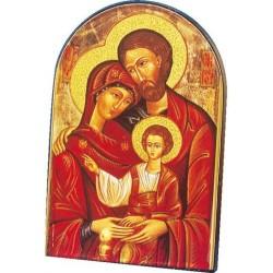 Icône courbée La Sainte-Famille reproduction Taille 14x9,5cm