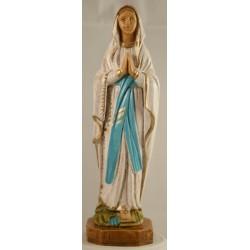 Petite Statue Notre Dame de Lourdes en résine polychrome