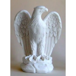 Statue aigle royal décoration sculpture albatre H 19 CM