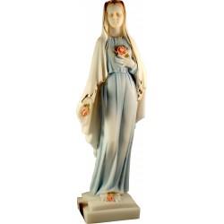 Statue de la Très Sainte Vierge Marie à la rose, Rosa Mystica H. 27 CM