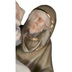 Statue Sainte Famille, la fuite en Egypte. décoration Noel H. 25cm
