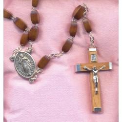 Chapelet marial marie, grains en bois