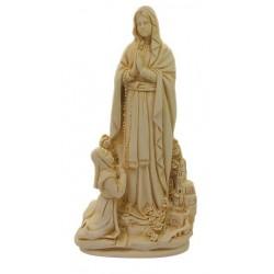 Statue des apparitions de Lourdes en Poudre de Marbre H 22cm