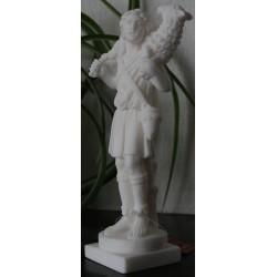 Statue Jésus Christ Bon pasteur portant l'agneau